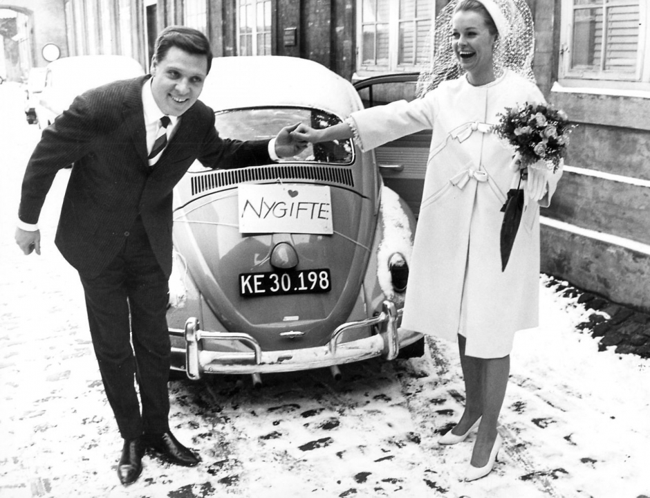 Ghita Nørby ved hendes bryllup med Dario Campeotto i 1963