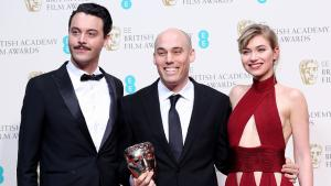 Jack Huston, Joshua Oppenheimer Imogen poots ved BAFTA i forbindelse med filmen The Act of Killing.