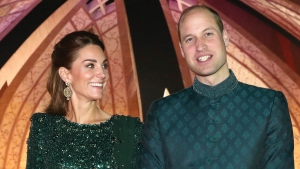 Hertuginde Catherine og prins William.