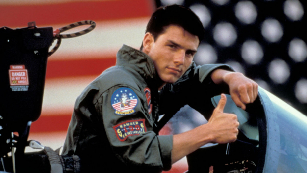 "Tom Cruise i ""Top Gun""."