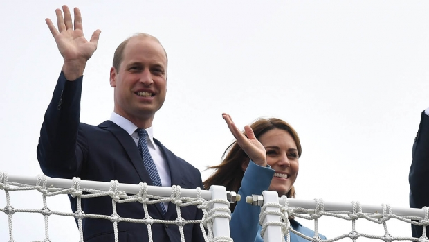 Prins William og hertuginde Catherine.
