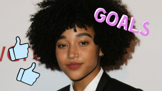 "Amandla Stenberg fra ""The Hunger Games"""