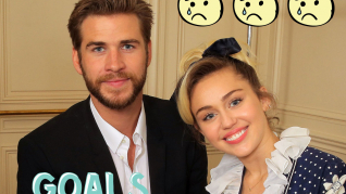 Miley Cyrus og Liam Hemsworth