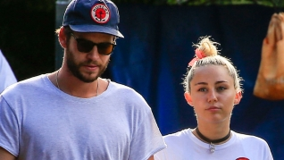 Miley Cyrus og kæresten Liam Hemsworth