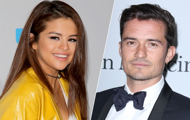 selena gomez, orlando bloom